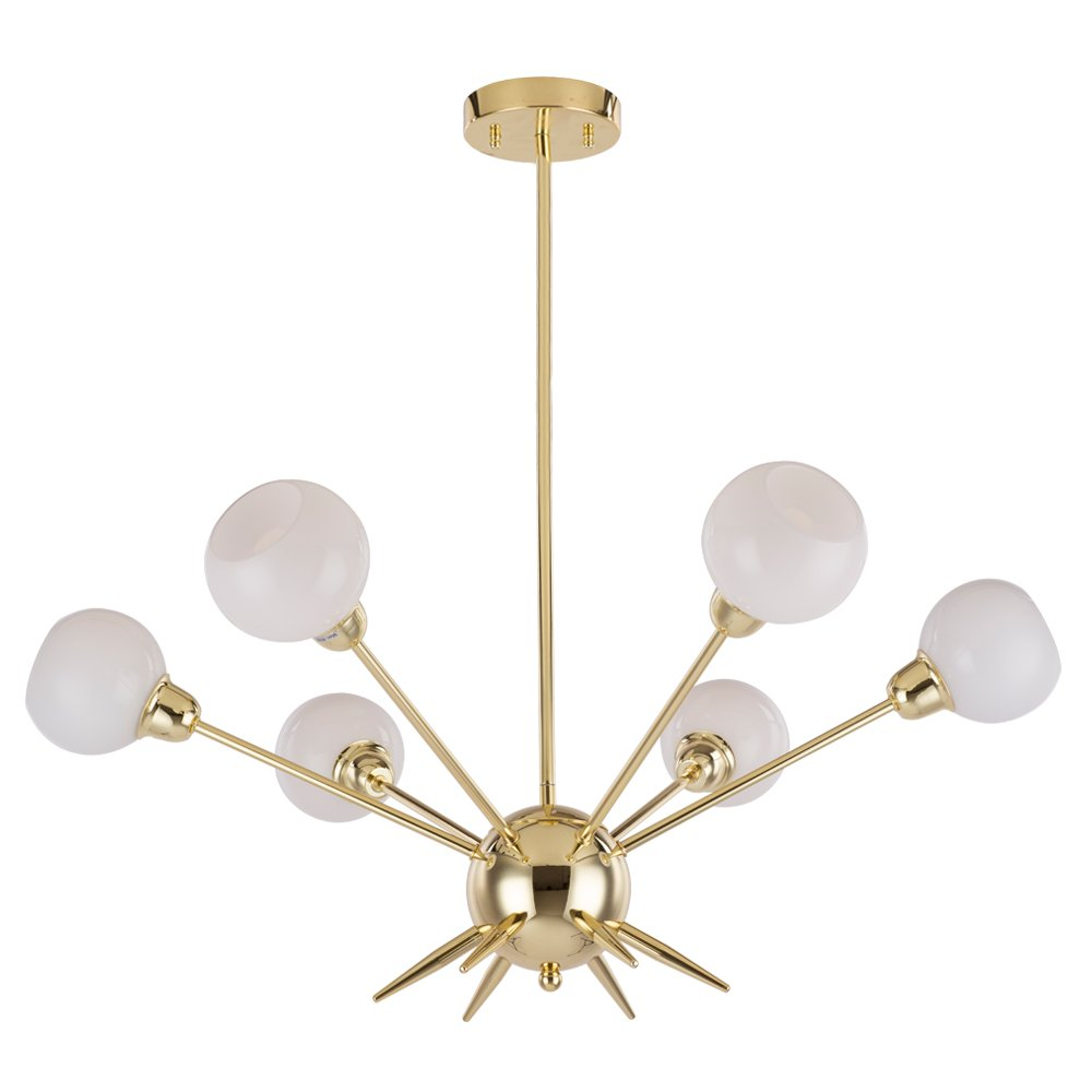 Sputnik chandelier housen solutions 6 lights modern pendant sputnik chandelier housen solutions 6 lights modern pendant lighting golden ceiling light fixture ul listed amazon arubaitofo Gallery