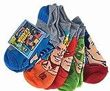 Bright & Colorful Justice League 5 Pairs No Show Socks Medium 7.5-3.5
