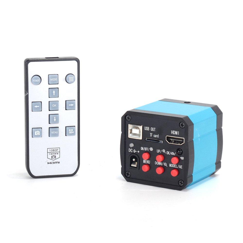 AIHOME 14MP HD TV HDMI USB Industry Digital C-mount Microscope Camera TF Card 180x Zoom C-MOUNT Lens