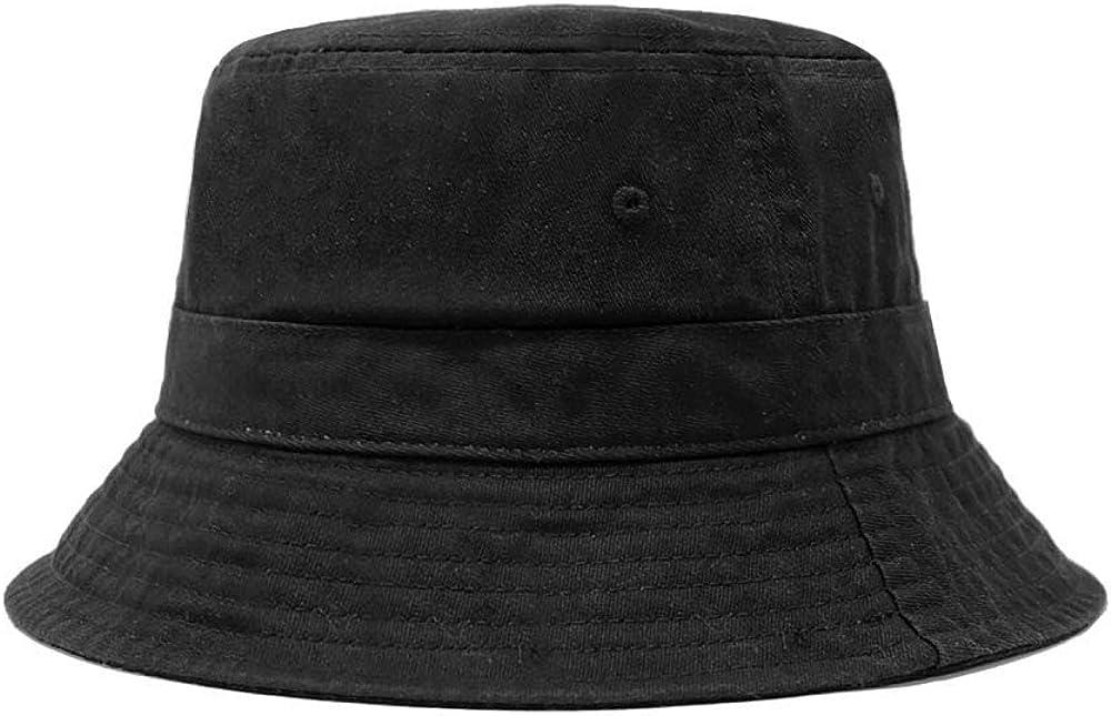 CHOK.LIDS Cotton Bucket Hats Unisex Wide Brim Outdoor Summer Cap Hiking Beach Sports (Black) at  Men's Clothing store