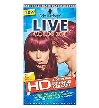 Schwarzkopf Live Farb Xxl Hd 86 Purpurrot Rein Dauer Lila Haare