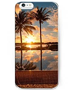 UKASE Palm Trees And Sunset Colorful Painted Plastic Case Cover for Apple iPhone 6 4.7inch