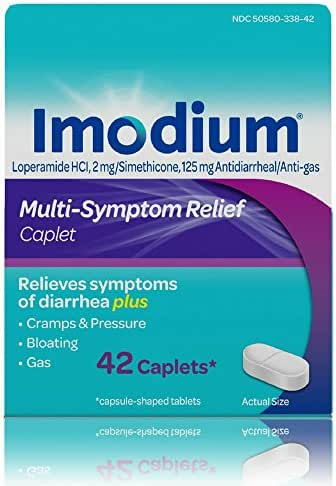 Imodium Multi-Symptom Caplets for Diarrhea Relief with Gas, Bloating & Cramps, 42 ct.