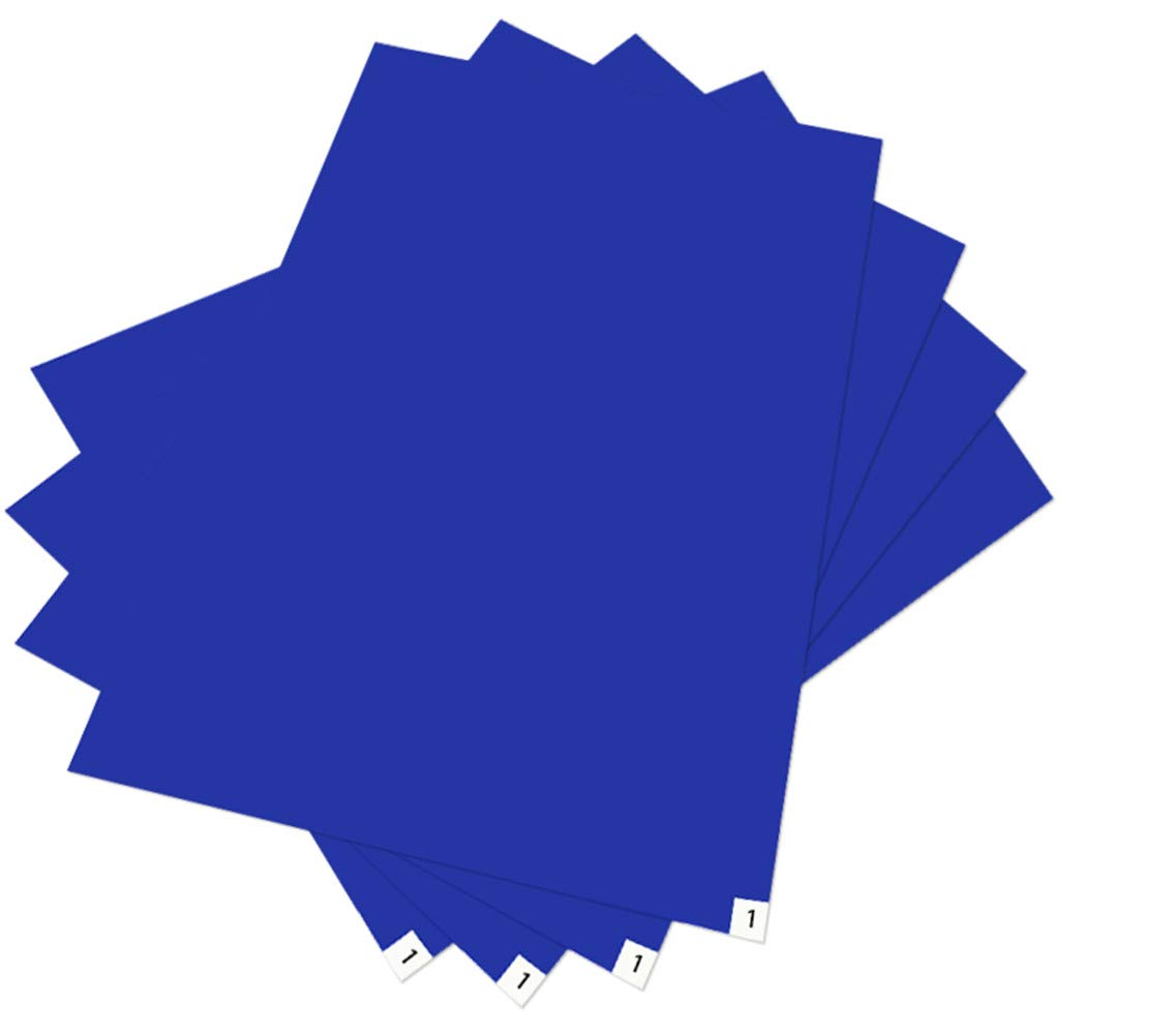 Tacky/Sticky/Adhesive Mat for Cleanroom Blue 24''x36''(4 Pads Per Pack of 30 Sheets) for Renovations/Construction/Lab-Room