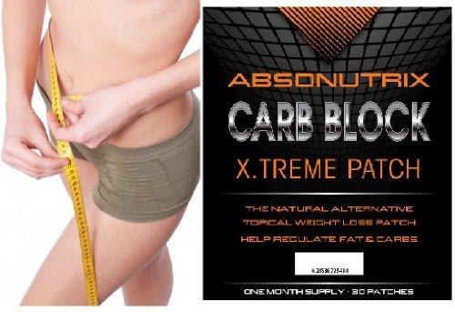 Absonutrix Carb Bloc X.treme Patch - 30 patchs - extrait de haricot blanc! Réduisez votre poids et votre corps Compact - 30 jours garantie de remboursement! Rien à perdre!