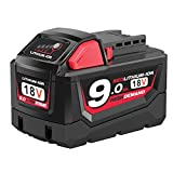 [Upgraded] Enegitech 18V 9000mAh Replacement Battery for Milwaukee M18 XC High Demand Red Lithium M18B 48-11-1820 48-11-1850 48-11-1828 48-11-1815 Cordless Power Tools