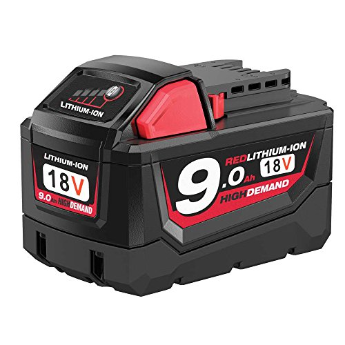[Upgraded] Enegitech 18V 9000mAh Replacement Battery for Milwaukee M18 XC High Demand Red Lithium M18B 48-11-1820 48-11-1850 48-11-1828 48-11-1815 Cordless Power Tools by Enegitech