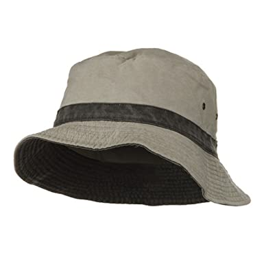 6ed11e52662 Reversible Washed Bucket Hat-Putty Black  Amazon.in  Clothing ...