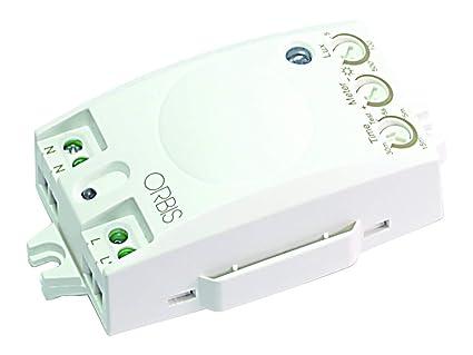 Orbis Ecomat OB135012 - Detector de presencia interior (tecnología de alta frecuencia integrada, 230