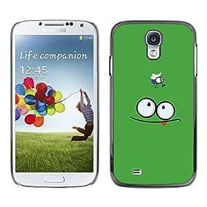 Carcasa Funda Prima Delgada SLIM Casa Case Bandera Cover Shell para Samsung Galaxy S4 I9500 / Business Style Funny Face & Fly