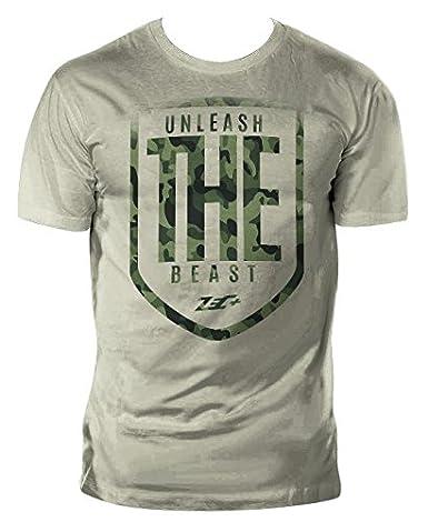 fe2deff25a959c ZEC+ NUTRITION Herren T-Shirt Fitness THE BEAST in Olivgrün  Amazon.de   Bekleidung