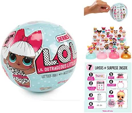 L.O.L Little Outrageous Littles Surprise! Doll - You Get Seven Layers of Fun with Every L.O.L. Surprise Doll!