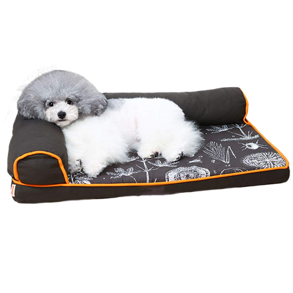 89×68cm Qz Small Washable Dog Bed For Medium Dogs Cat Pet, Durable Indestructible Puppy Kennel Beds For Doggie Doggy, Black (Size   89×68cm)