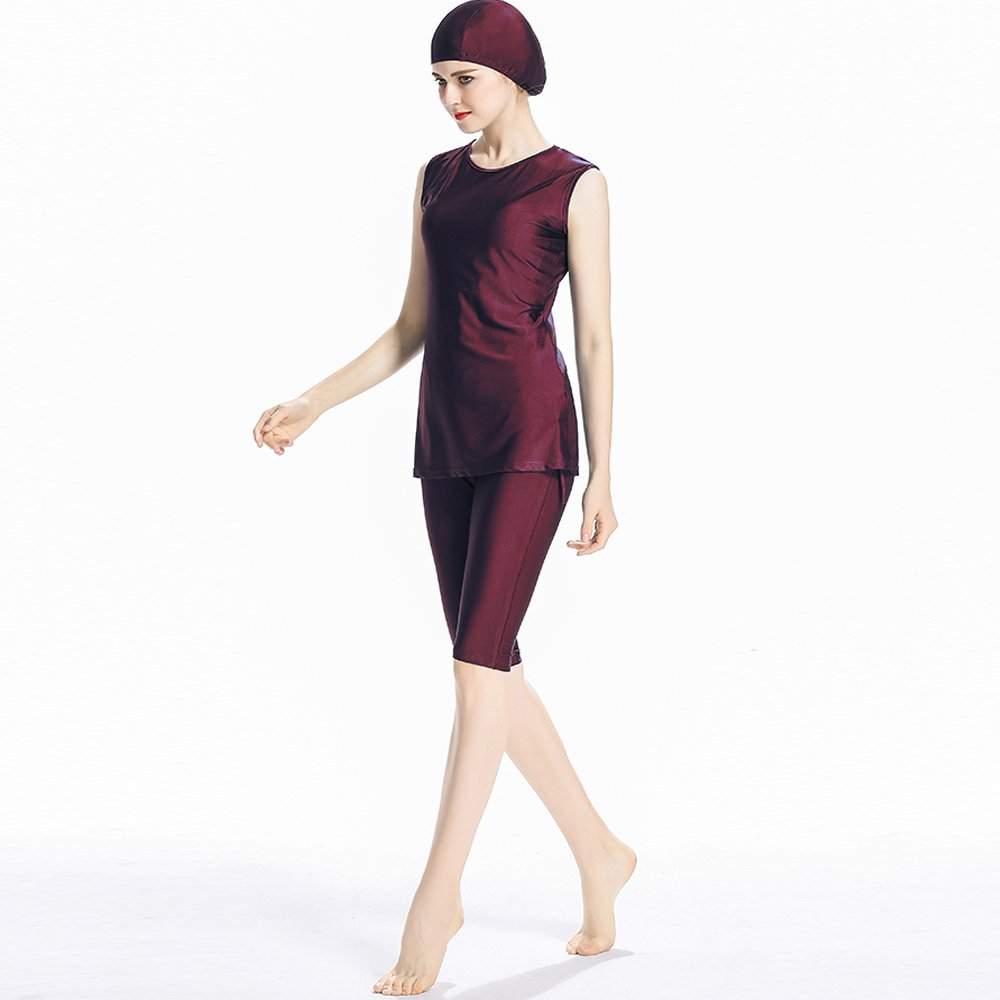 ziyimaoyi Muslim Swimwear per costume intero Girls modesto costume da bagno senza maniche Islamic Hijab Burkini