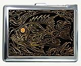Big Fish Gold Graphic Cigarette Case Lighter Wallet Card Holder