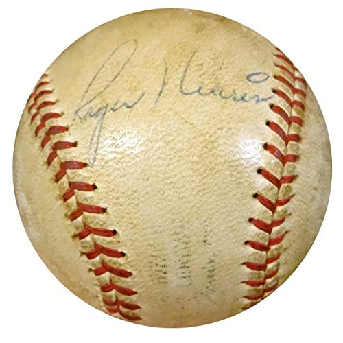 Mickey Mantle & Roger Maris Autographed Game Used AL Baseball New York Yankees