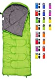 sleeping bag - RevalCamp Sleeping Bag for Cold Weather - 4 Season Envelope Shape Bags by Great for Kids, Teens & Adults. Warm and lightweight - perfect for hiking, backpacking & camping. Color Green - Right Zip