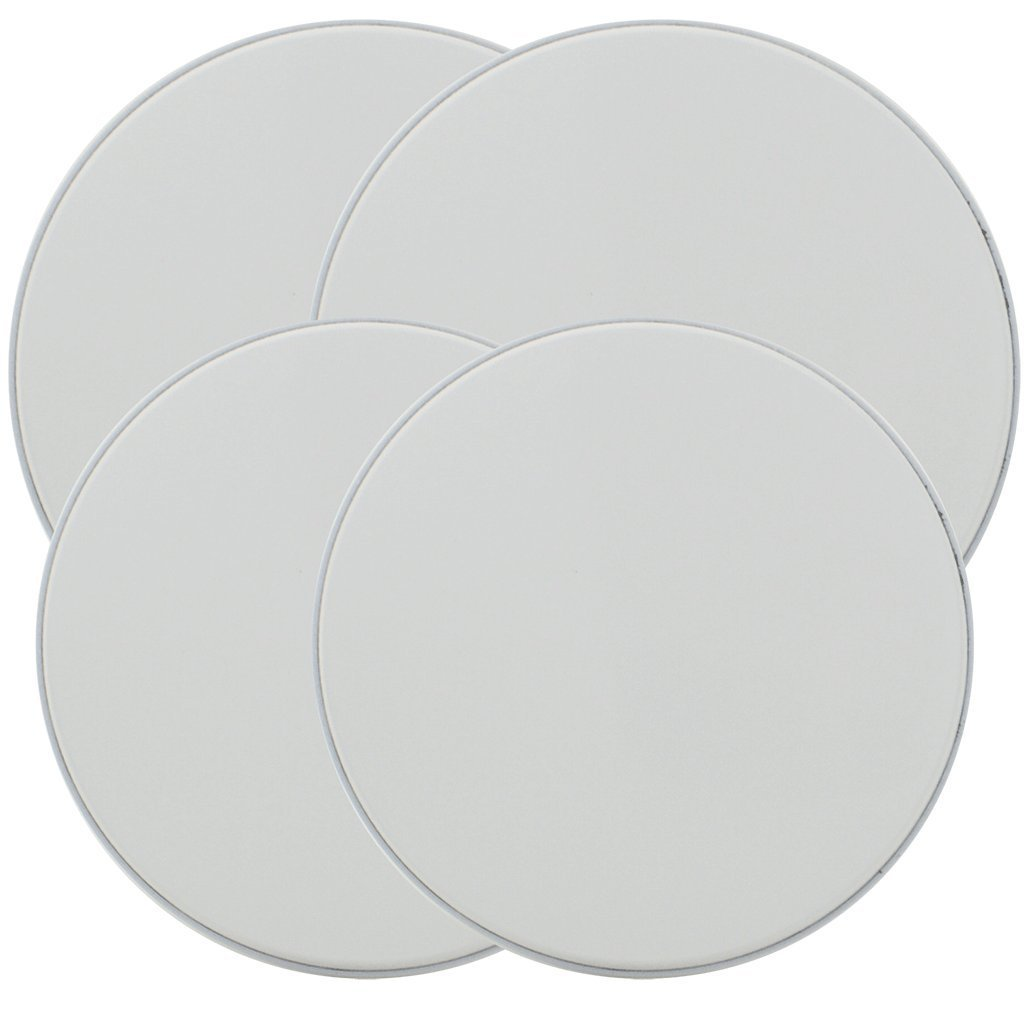 Range Kleen 501 4 Pack Round White Burner Kovers with 2 Small 8.5 Inch and 2 Large 10.5 Inch