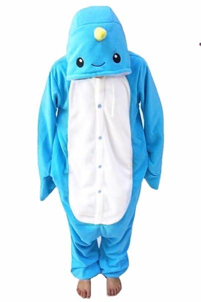 FORLADY Pijamas de Animales Adultos Narval Disfraz de Cosplay Animal Ropa de Dormir de Halloween Unisex