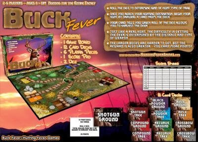 Buck Fever Deer Hunting Board Game ~ Harvest your trophy Buck NEW by Hunting Fever Games