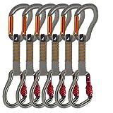 Fusion 6ST Climb Carabiners Quick Draw Sets, 11cm, Grey