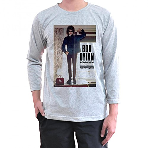 Toyz T shirt Store Bob Dylan T Shirt Long Sleeve XX-Large Grey