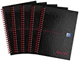 Black n Red Book Wirebound 90gsm Ruled and Perforated 140 Pages A4 Ref B79019 [Pack of 5] A5