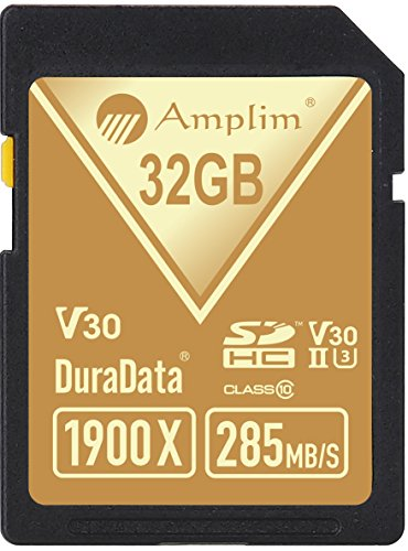 Amplim 32GB UHS-II SDHC SD Card Blazing Fast Read 285MB/S (1900X) Class 10 U3 Ultra High Speed V30 UHSII Extreme Pro SD HC Memory Card. Professional 4K Full HD Video Shooting 32 GB/32G TF Flash. New by Amplim (Image #1)