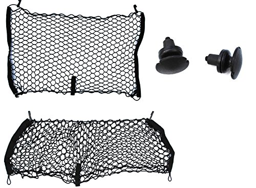Envelope Style Rear Seat Cargo Net Set of 2 Fitted For Jeep Compass Patriot Renegade (Custom Cargo Nets)