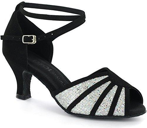 (DSOL Women's Latin Dance Shoes D601801-1 (7.5, Black))