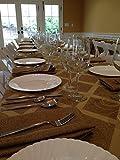 Polyester Sedona Burlap Table Cloth (Wheat, 70x144 Rectangle)
