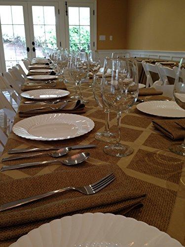 Polyester Sedona Burlap Table Cloth (Wheat, 70x144 -