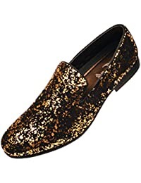 Black dress gold shoes 007