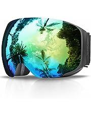 Skibrille, eDriveTech Ski Snowboard Brille Brillenträger Schneebrille Snowboardbrille Verspiegelt- Für Skibrillen Damen Herren- OTG UV-Schutz Anti Fog Verbesserte Belüftung für Skifahren, Snowboarden