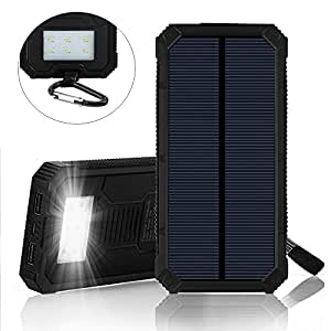 Amazon.com: Power Bank 12000mAh Solar Charger Portable ...