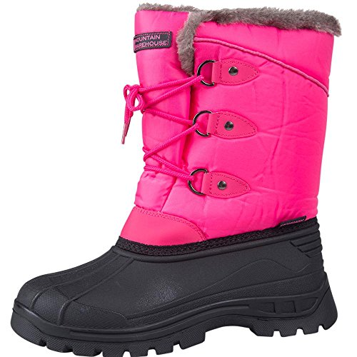 Whistler Snow - Mountain Warehouse Whistler Kids Snow Boots - Warm Childrens Boots Bright Pink 3 Child US