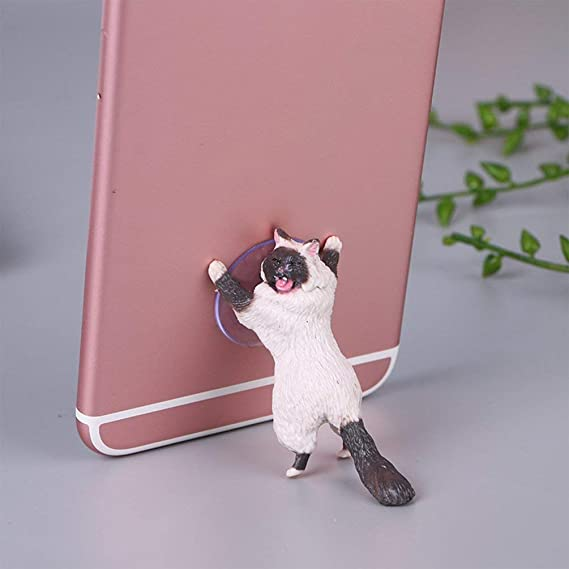 Phone Holder Cute Cat Support Resin Mobile Phone Holder Stand Sucker Tablets Desk Sucker Design High Quality Smartphone Holder Last Style Cellphones & Telecommunications