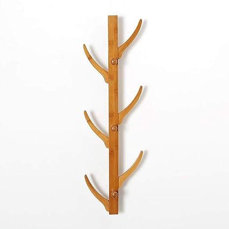 K-Y Perchero de pie Perchero de bambú Flotante montado en la ...