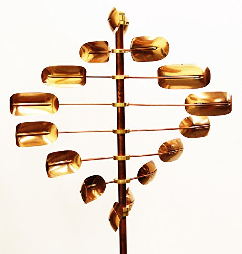 Copper Kinetic Wind Sculpture, Lucky 8 Twirler