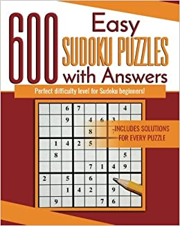 600 Easy Sudoku Puzzles With Answers Perfect For Sudoku Beginners