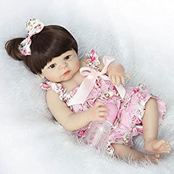 57cm Full Body Silicone Vinyl Reborn Baby Doll Girls Gift Anatomically Correct