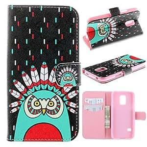 YULIN Teléfono Móvil Samsung - Carcasas de Cuerpo Completo - Gráfico/Diseño Especial - para Samsung Galaxy Mini S5 ( Multi-color , Cuero PU/TPU )