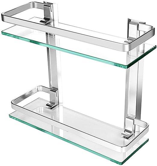 JanTeelGO Estante de cristal templado grueso y aluminio Homeself ...