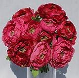 Ranunculus Silk Bouquet - Fuchsia