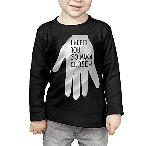 ZheuO Boys & Girls Infant I Need You So Much Closer Soft and Cozy 100% Cotton Tee Unisex Black 4 - How Football To About Talk
