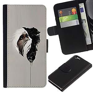 EJOY---La carpeta del tirón la caja de cuero de alta calidad de la PU Caso protector / Apple Iphone 6 / --Nativo Medicina misterioso indio