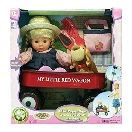 My Little Red Wagon Doll and Puppy Set by Gi-go Toys