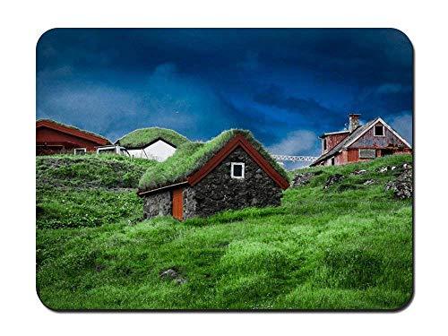 "BGLKCS Mouse Pad (8.6""x7.1"") - Denmark Faroe Islands Torshavn Sky Clouds - Customized Rectangle Non-Slip Rubber Mousepad Gaming Mouse Pad"