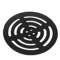 Black Cast Round Drain Grate Gully Grid Cover (Medium)