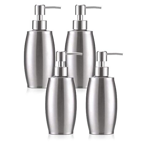 flintronic ® Dispensador de Jabón 350ml, 4PCS Fregadero de ...